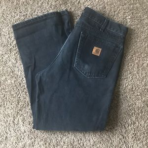 Used Black Carhartt Denim Relaxed Fit